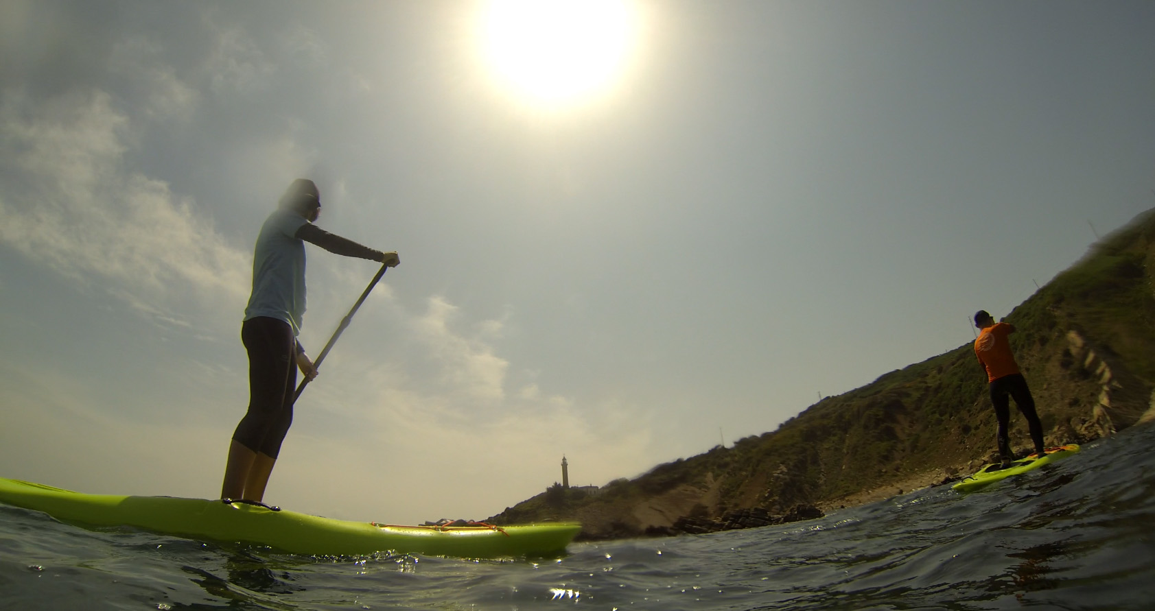 SUP tour in the straight of Gibraltar natural park
